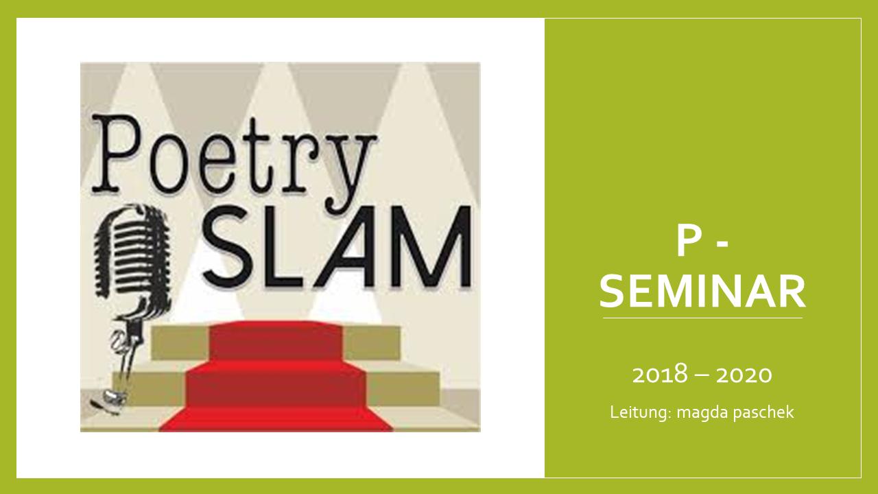 Poetry Slam – das Spiel mit Sprache